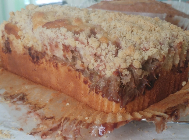 rhubarb crumble cake 1